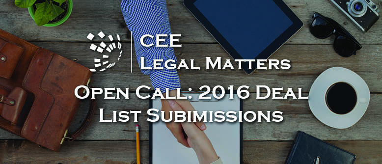 Open Call: CEELM Deal Submissions 2016