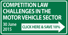 Competition Law Motor Vehicles