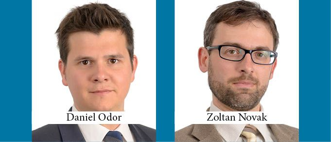 Daniel Odor and Zoltan Novak are Promoted to Partner at Taylor Wessing