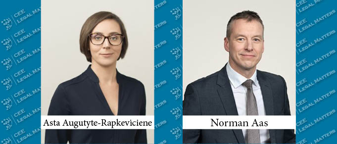 Asta Augutyte-Rapkeviciene and Norman Aas Promoted to Partner at Sorainen