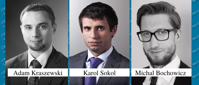 Michal Bochowicz, Adam Kraszewski, and Karol Sokol Promoted to Partner at Gessel