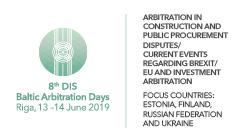 8 th DIS Baltic Arbitration Days